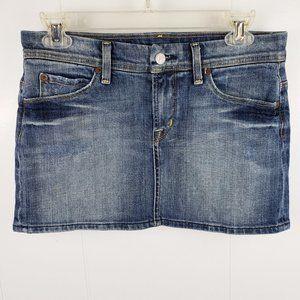 CITIZEN OF HUMANITY Jean Mini Skirt - Size 26
